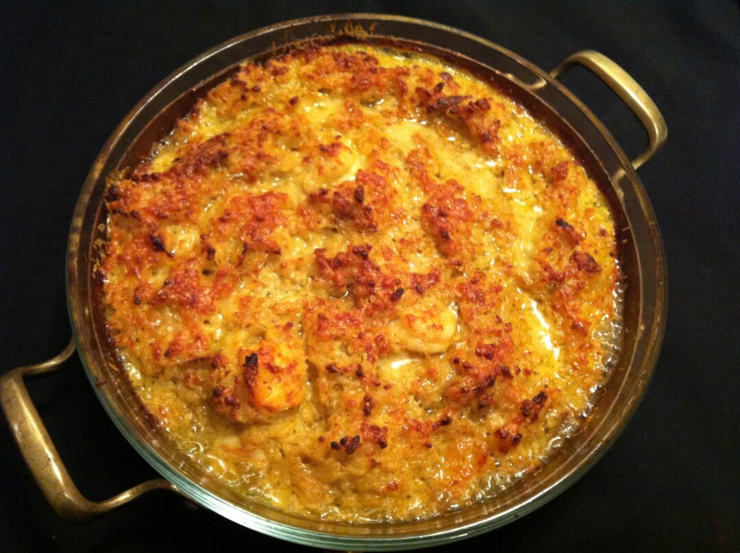 Curry Shrimp Risotto Gratin